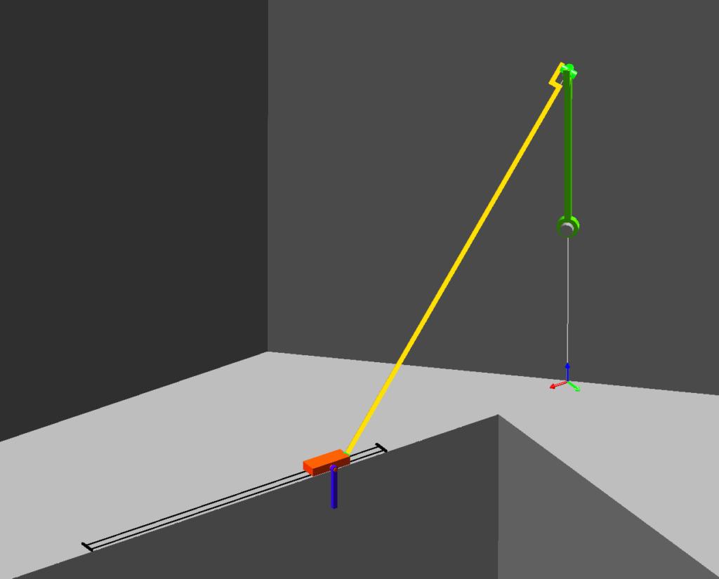 3D slider-crank mechanism for optimal control