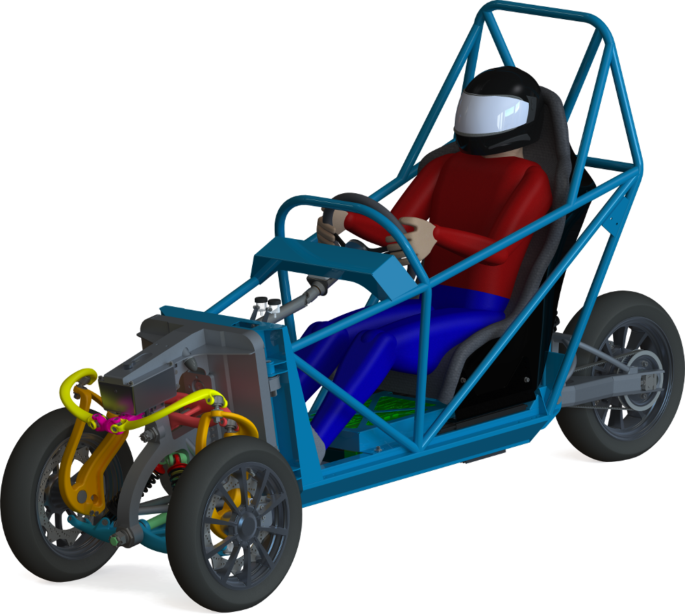 General CAD view of the wemoov vehicle