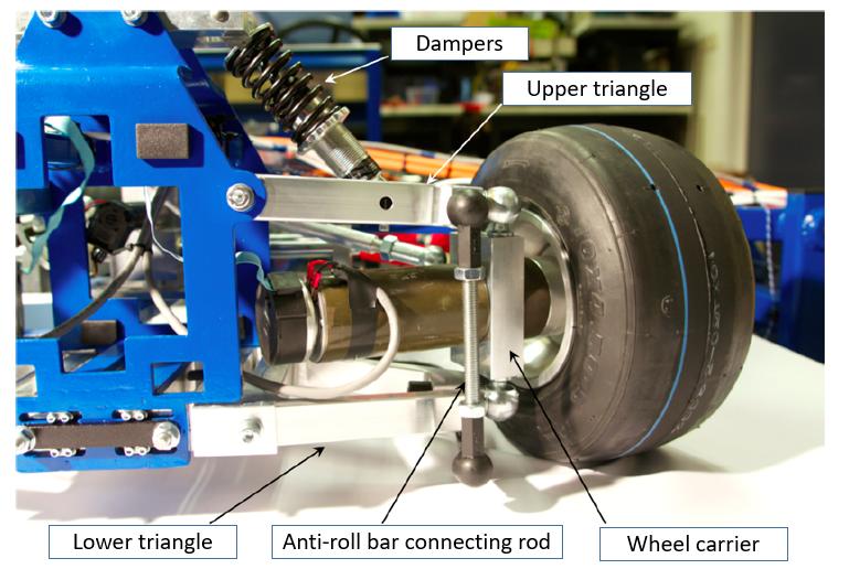 Kart suspension components
